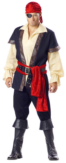 Mens Adventurous Adult Pirate Costume