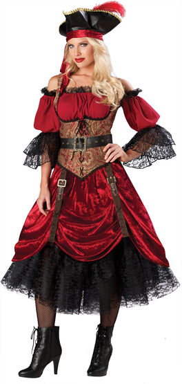 Swashbucklin' Scarlet Pirate Adult Costume