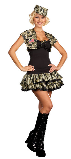 Soldier Girl Sexy Army Costume