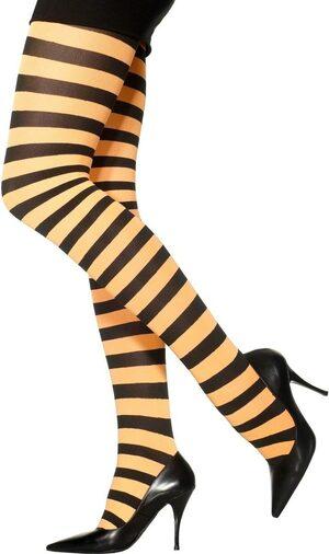 Orange And Black Pantyhose