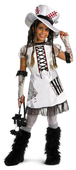Monster Bride White Gothic Kids Costume