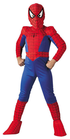 Kids Deluxe Muscle Chest SpiderMan Costume