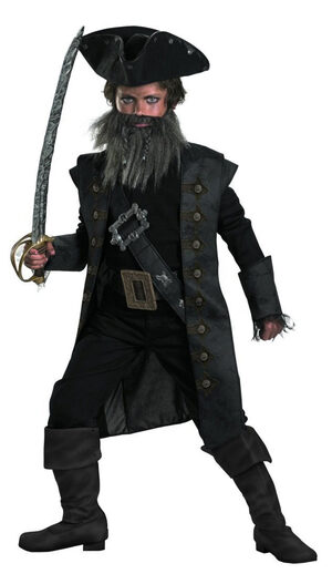 Black Beard Pirates of the Caribbean Kids Costume