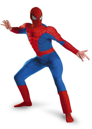 SpiderMan Muscle Chest Deluxe Adult Costume