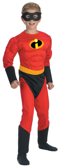 Mr Incredible Muscle Chest Kids Disney Costume