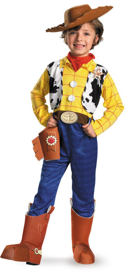 Disney Toy Story Woody Deluxe Kids Cowboy Costume