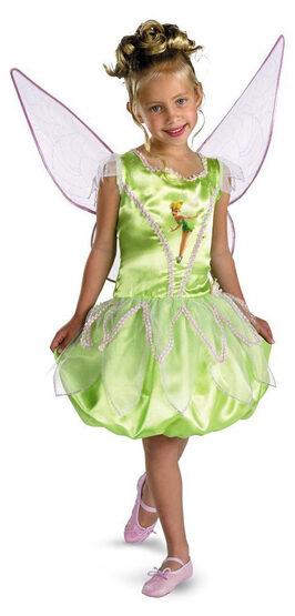 Girls Deluxe Disney Tinkerbell Costume