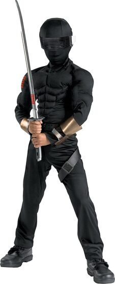 GI Joe Snake Eyes Muscle Chest Kids Costume