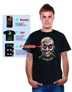 Animated Frantic Zombie Eyeballs T-Shirt