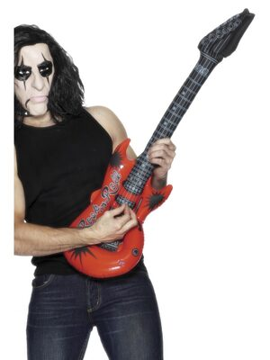Inflatable Red Rockstar Guitar