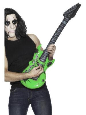 Inflatable Green Rockstar Guitar