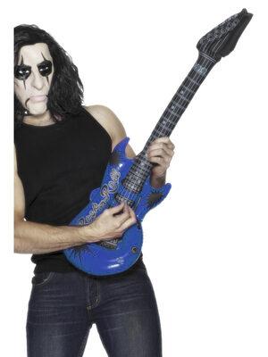 Inflatable Blue Rockstar Guitar
