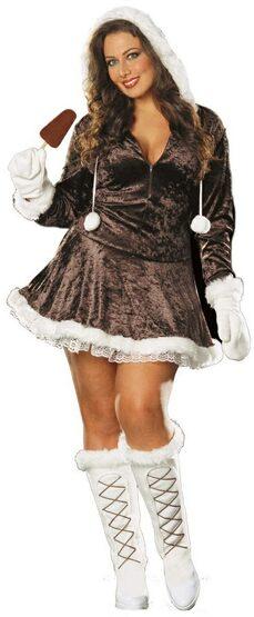Sexy Eskimo Cutie Plus Size Costume