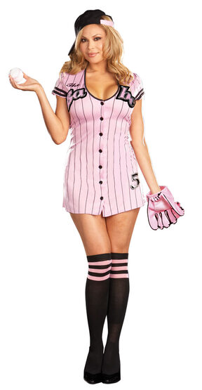 The Babe Sexy Plus Size Baseball Costume