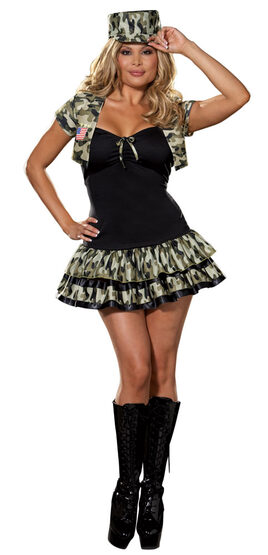 Soldier Girl Plus Size Sexy Army Costume