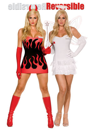 Miss Hellen Back Reversible Sexy Angel Devil Costume
