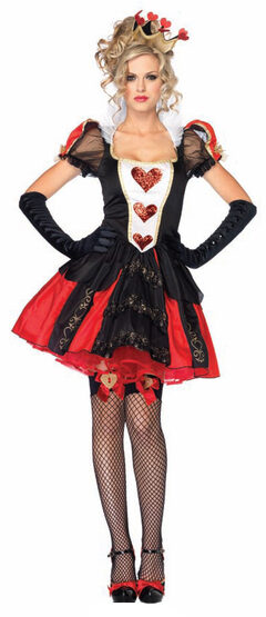 Sexy Dazzling Dark Queen of Hearts Costume