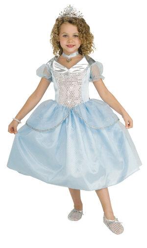 Kids Sparkle Disney Cinderella Princess Costume