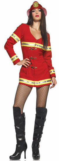 Sexy Red Hot Firefighter Costume
