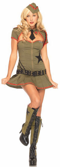 Sexy Private Pin Up Army Girl Costume