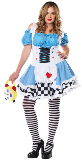 Miss Wonderland Alice Plus Size Costume
