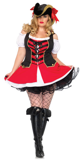 Aye Aye Admiral Pirate Plus Size Costume