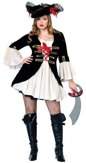 Captain Swashbuckler Pirate Plus Size Costume