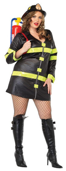 Smoking Hot Firefighter Plus Size Costume