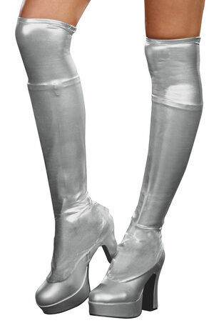 Metallic Silver Bootcovers