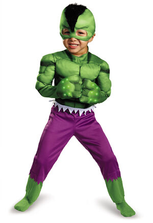 Light Up Hulk Kids Costume