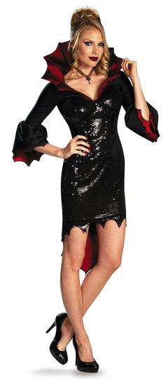 Sexy Sequin Glam Vampiress Costume