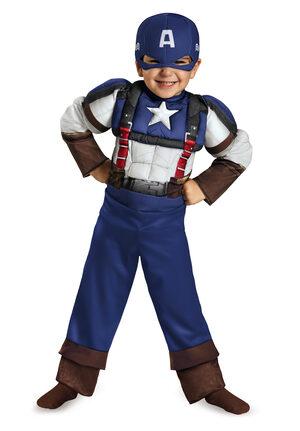 Retro Captain America Toddler Kids Costume