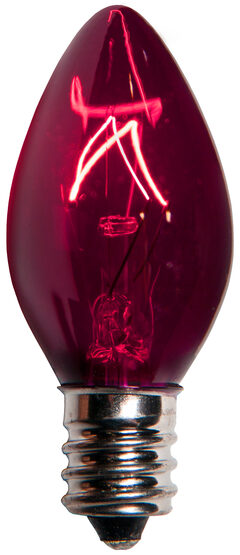 C7 Purple Triple Dipped Transparent Replacement Bulbs