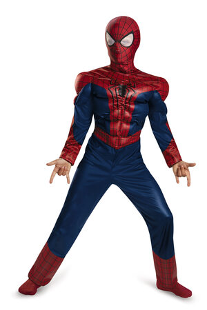 Classic Muscle Chest Spiderman Kids Costume