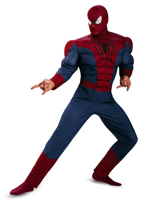 Classic Spiderman Muscle Chest Adult Costume