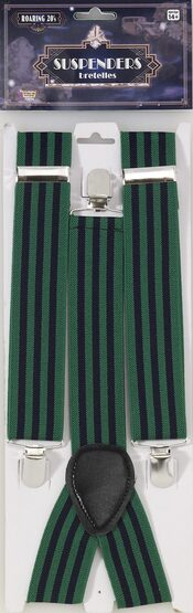 1920s Green and Blue Suspenders