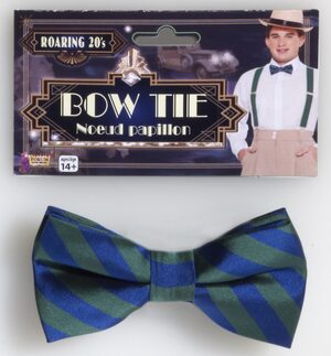 Roaring 20s Blue and Red Bowtie