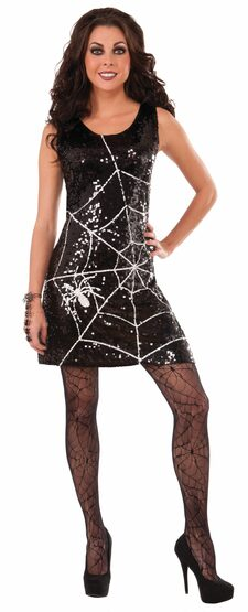 Black Web Witch Adult Costume