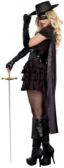 Sexy Double Edged Diva Zorro Costume