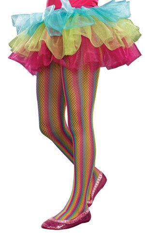 Rainbow Fishnet Tights