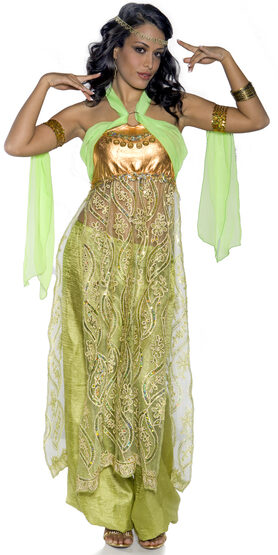 Sexy Emerald Belly Dancer Costume