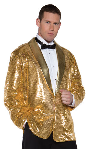 Flashy Gold Sequin Jacket Adult Costume