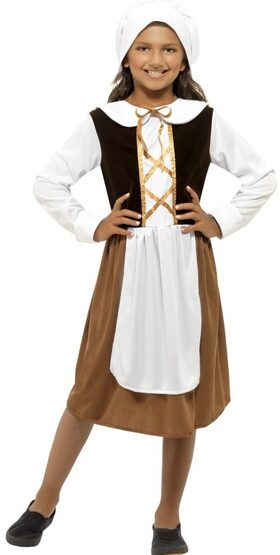 Historical Tudor Girl Kids Costume
