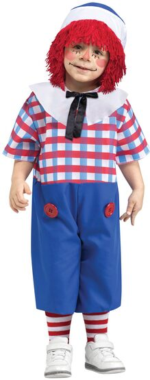 Storybook Raggedy Andy Kids Costume