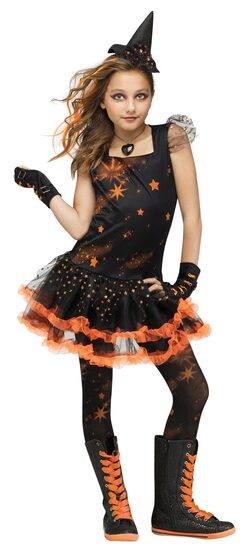 Sparkle Star Witch Kids Costume