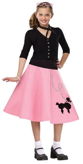 50s Poodle Skirt Kids Costume
