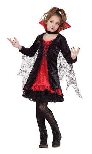 Gothic Lace Vampiress Kids Costume