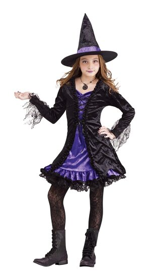 Magical Lace Witch Kids Costume