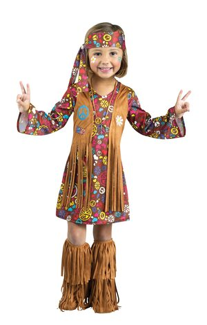 Peace and Love Hippie Kids Costume