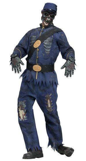 Union Blue Zombie Adult Costume